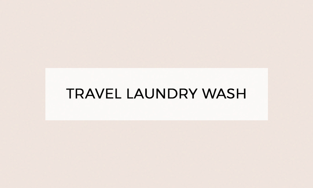 travel laundry