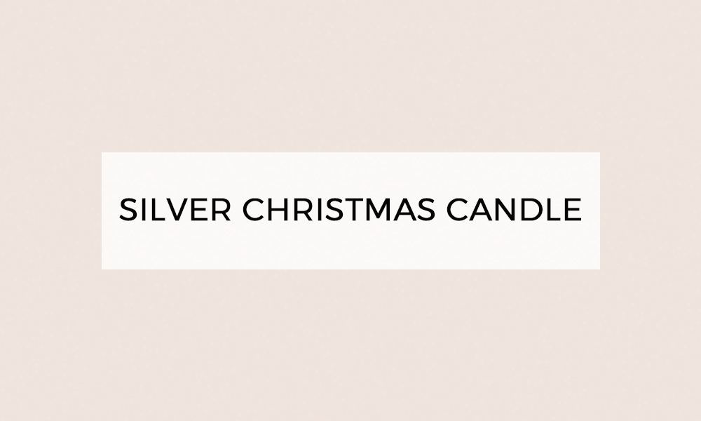 silver christmas candle
